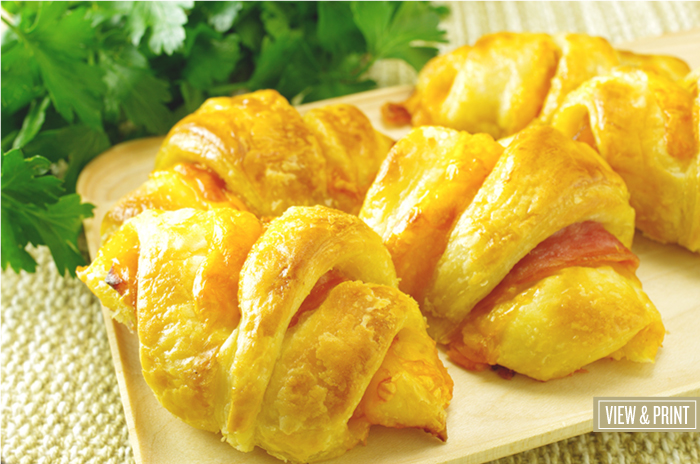 Ham and Cheese Horns
