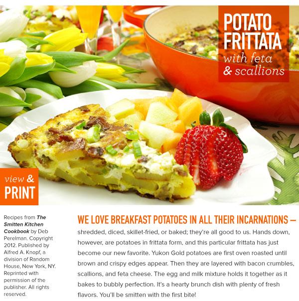 RECIPE: Potato Frittata with Feta and Scallions