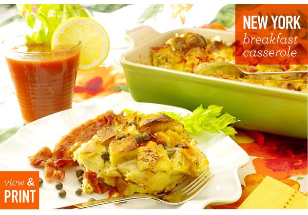RECIPE: New York Breakfast Casserole