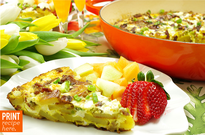 Potato Frittata with Feta and Scallions