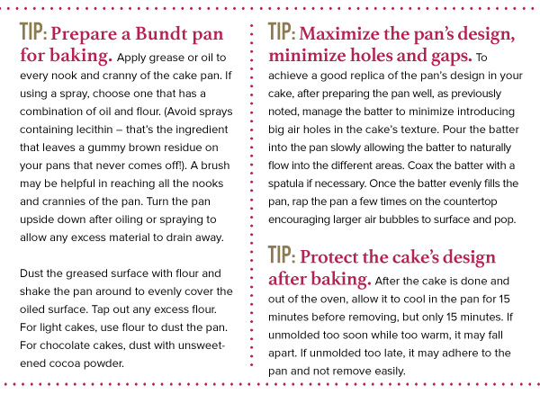 Cake Technique: Tips for Making Bundt Cakes