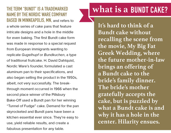 What is a Bundt Cake?