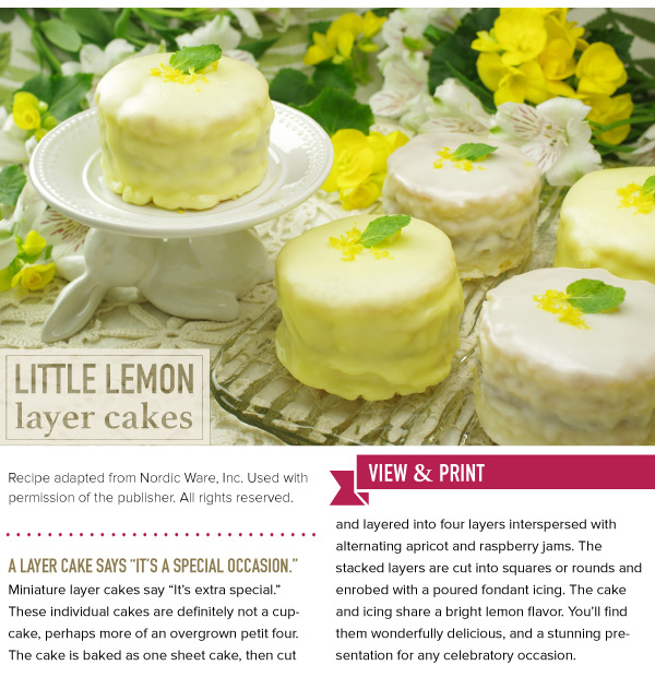 RECIPE: Little Lemon Layer Cakes