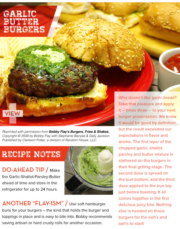 RECIPE: Garlic Butter Burgers