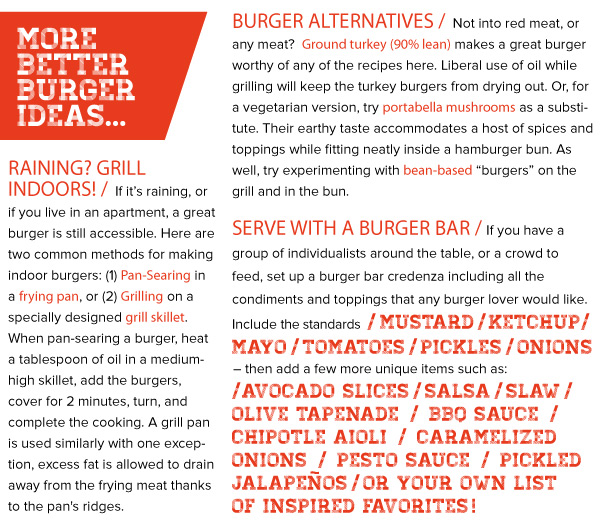 More Better Burger Ideas