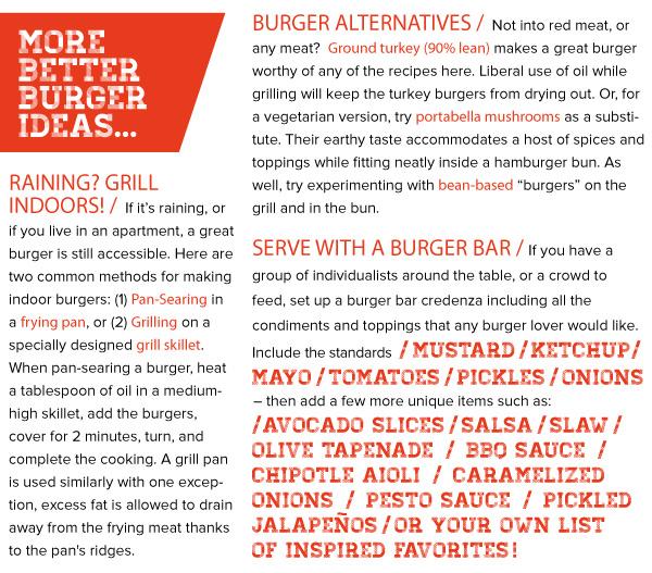 More Better Burger Ideas