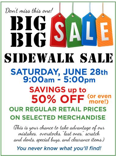 Big Sidewalk Sale