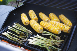 Corn and Scallions on the Grill