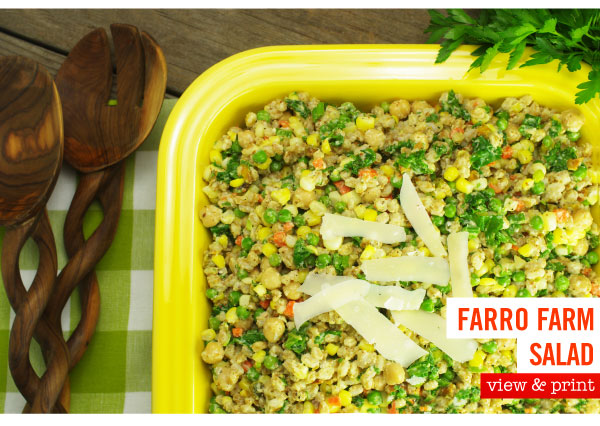 RECIPE: Farro Farm Salad