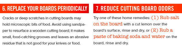 Cutting Board Tips