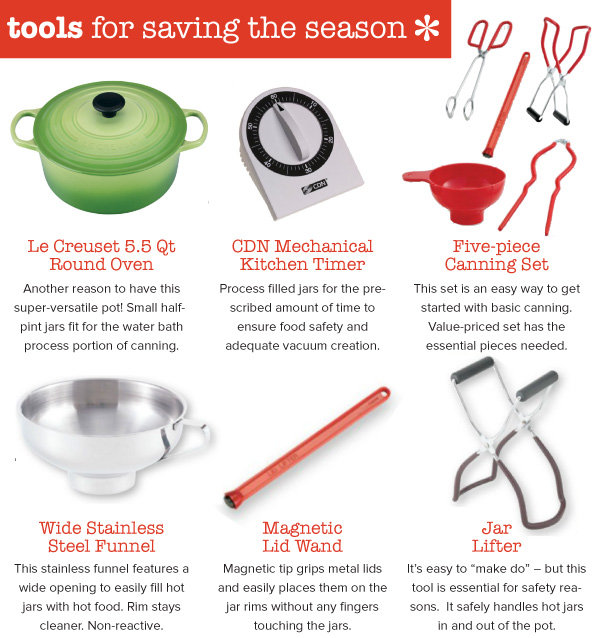 Tools for Saving the Season