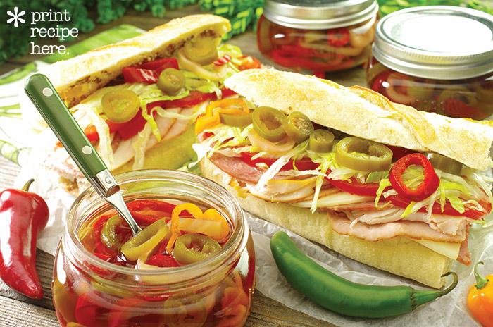 Pickled Hot Pepper Rings