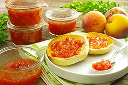 Peach Jam with Sriracha