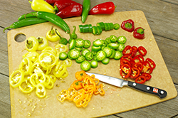 Cut Pepper Rings