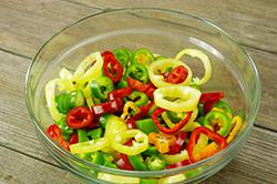 Pepper Rings in Bowl