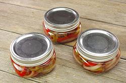 Filled and Lidded Jars