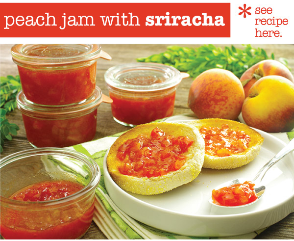 RECIPE: Peach Jam with Sriracha