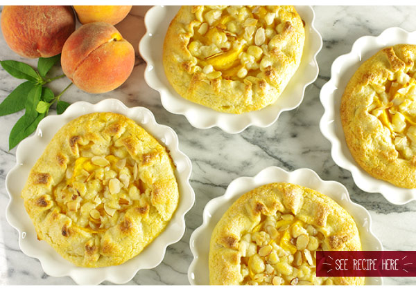 RECIPE: Summer Peach-Almond Galettes