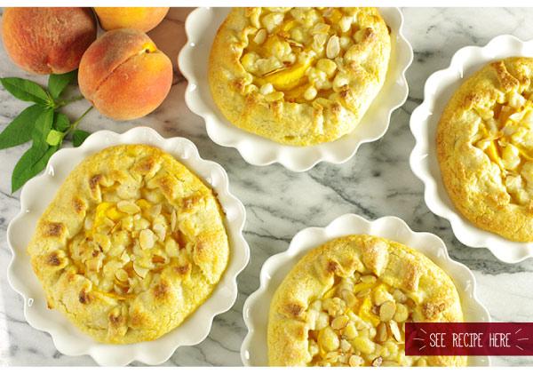 RECIPE: Summer Peach-Almond Galettes
