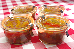Pepper Relish in Jars