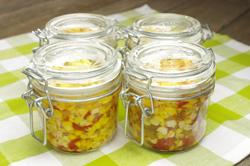 Corn Relish in Jars