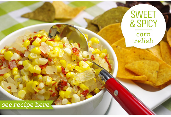 Sweet & Spicy Corn Relish