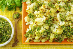 Roasted Cauliflower with Sauce Vierge