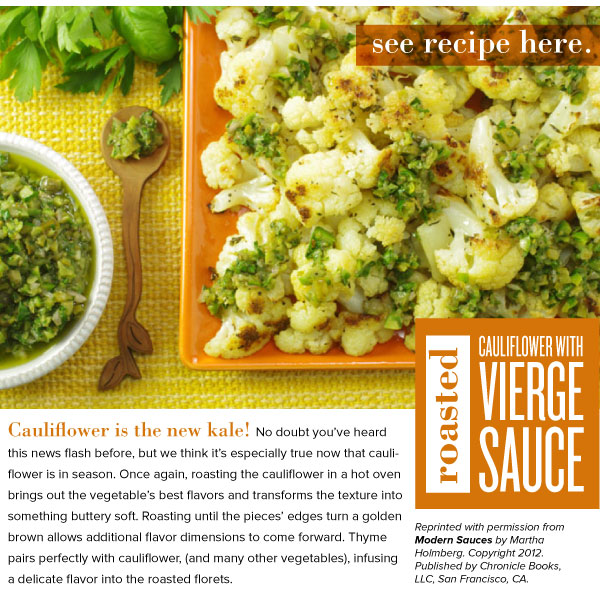 RECIPE: Roasted Cauliflower with Vierge Sauce
