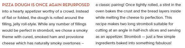 RECIPE: Smoked Ham and Cheese Stromboli