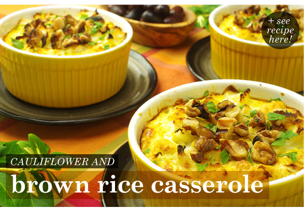 RECIPE: Cauliflower and Brown Rice Casserole