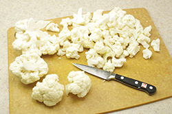 Prepping Cauliflower