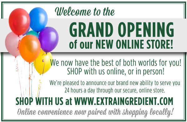 Online Store Now Open!