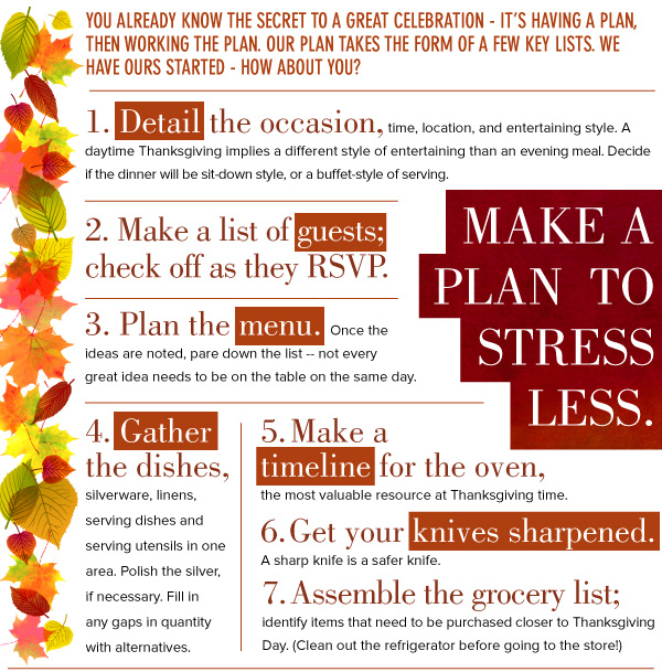 Make a Plan to Stress Less