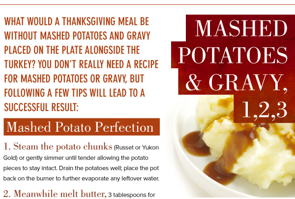 Mashed Potatoes and Gravy, 1,2,3