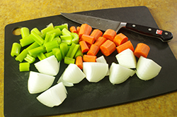Onions, Celery, and Carrots