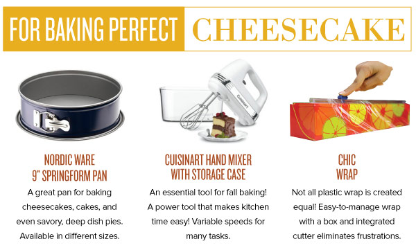 For Baking Perfect Cheesecake