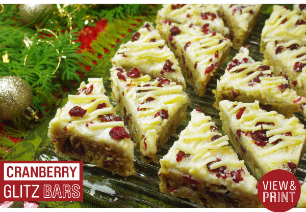 RECIPE: Cranberry Glitz Bars