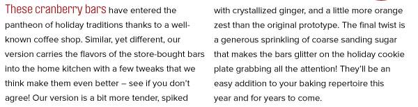 RECIPE: Cranberry Glitz Bars