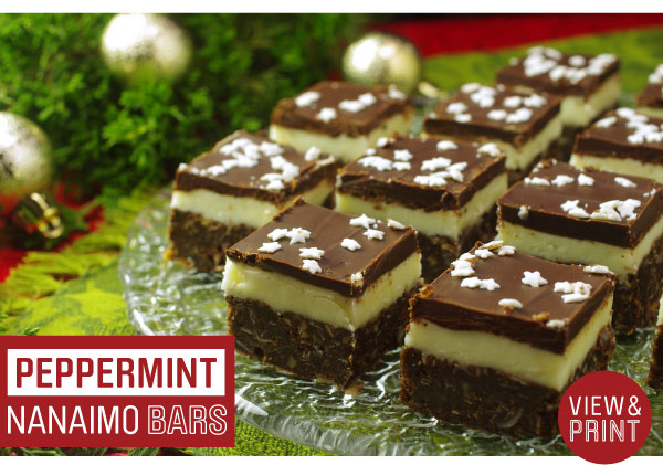 RECIEPE: Peppermint Nanaimo Bars