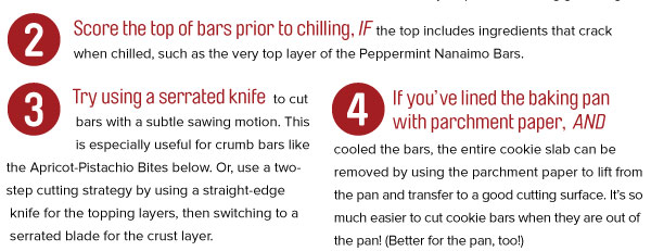 Tips for Cutting Cookie Bars