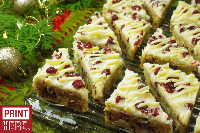 Cranberry Giitz Bars