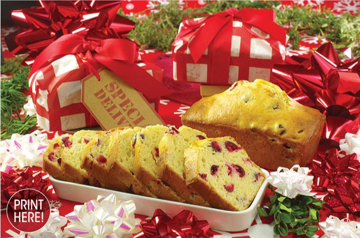 Cranberry-Eggnog Tea Loaves