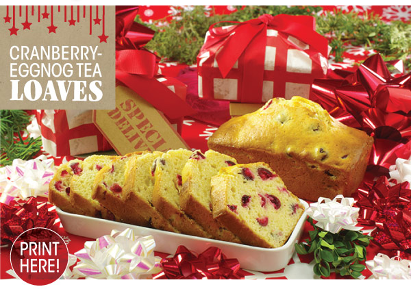 RECIPE: Cranberry Eggnog Tea Loaves
