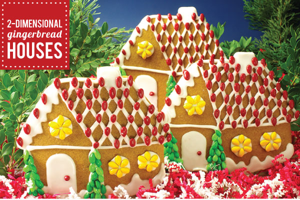 2D Gingerbread Houses