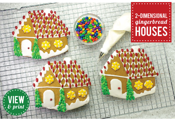 RECIPE: 2D Gingerbread Houses