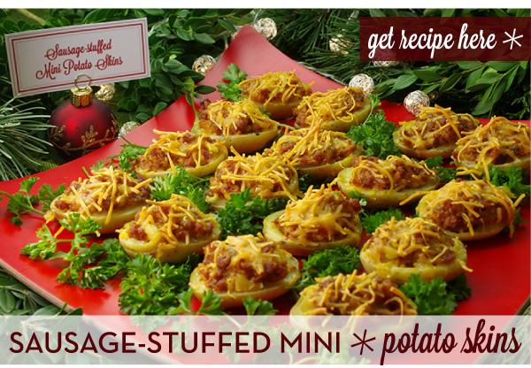 RECIPE: Sausage-Stuffed Mini Potato Skins