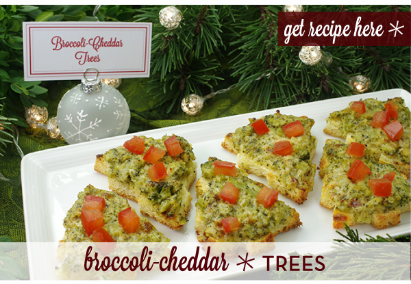 RECIPE: Broccoli-Cheddar Trees
