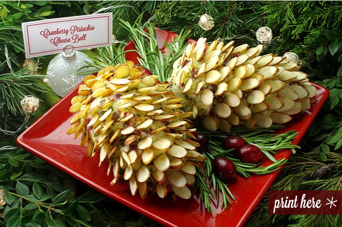 Cranberry-Pistachio Cheese Ball