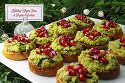 Holiday Thyme Peas Crostini