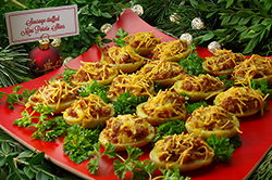 Mini Sausage-Stuffed Potatoes